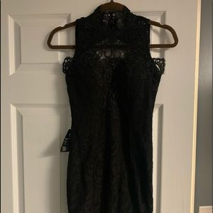 Nasty Gal black lace dress.